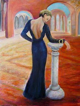 Woman in blue by Sylva Zalmanson