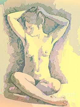 John Malone - Woman in Nude Pose