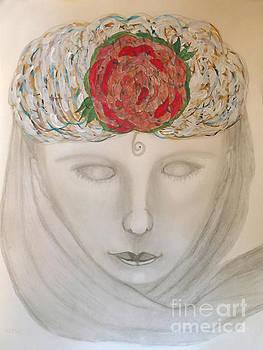 Woman In Scarf by Nancy TeWinkel Lauren