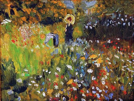 Woman in the Garden After Renoir by Michael Helfen