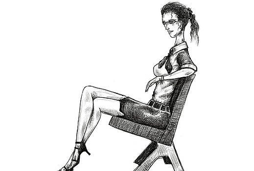 Woman On Bench by Sasank Gopinathan