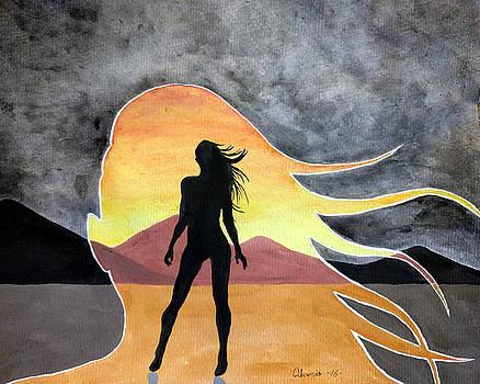 Woman Silhouette by Edwin Alverio