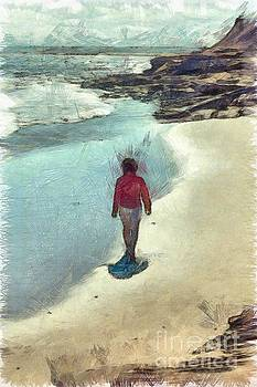 Edward Fielding - Woman Walking on the Beach PEI