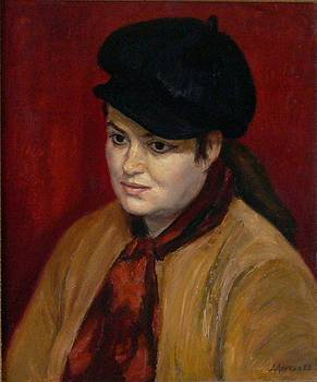 Woman with a hat by Dionisii Donchev