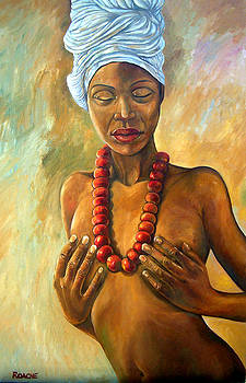 Woman with Necklace by Joe Roache