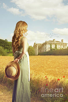 Woman With Straw Hat by Amanda And Christopher Elwell