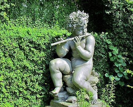 Wood Nymph With Flute by Cynthia Guinn