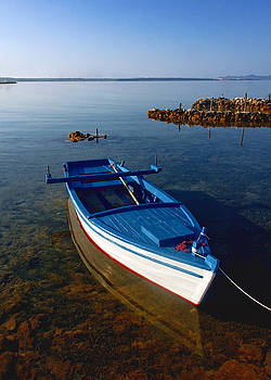 Wooden Boat by Dean Bertoncelj