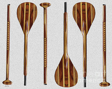 Wooden Paddles by Cheryl Young