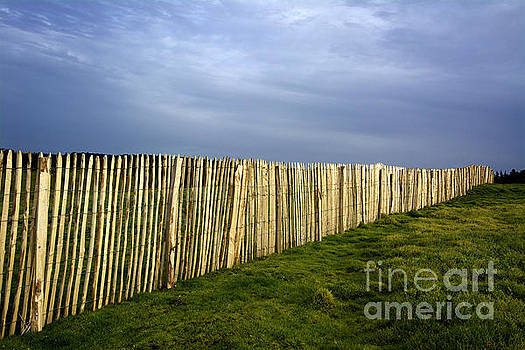 BERNARD JAUBERT - Wooden picket fence. Auvergne. France.