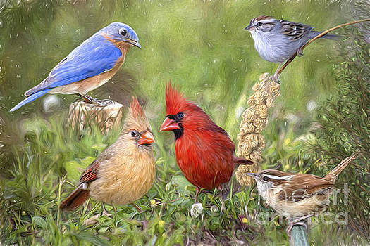 Woodland Friends Photo Painting by Bonnie Barry