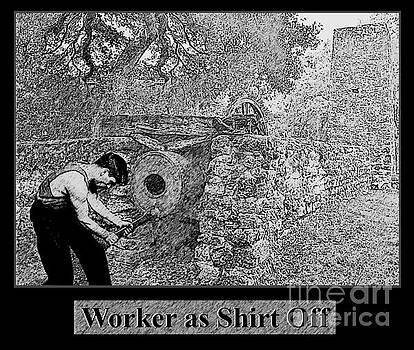 Worker as Shirt Off No. I by Geordie Gardiner