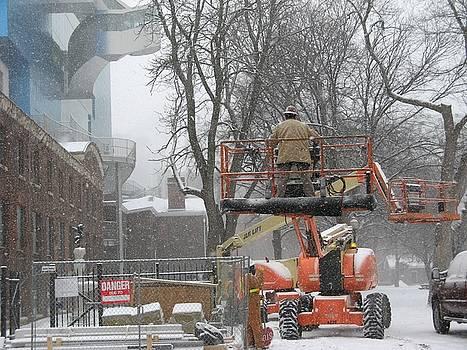 Alfred Ng - working as the snowfalls