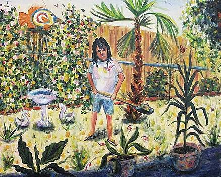 Suzanne  Marie Leclair - Working on the yard
