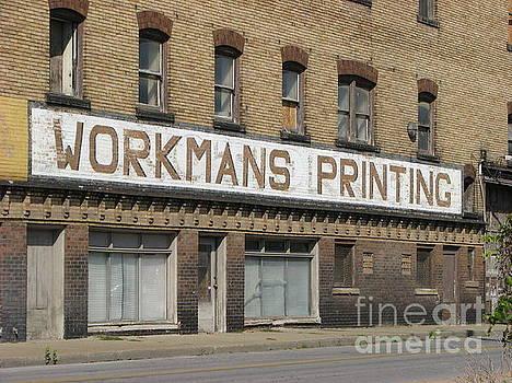 Workmans Printing by Michael Krek