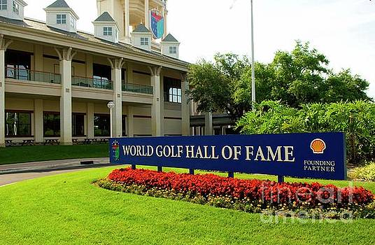 World Golf Hall of Fame Sign by Bob Pardue