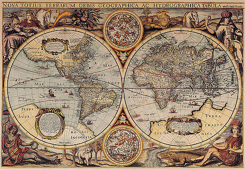 Photo Researchers - World Map 1636