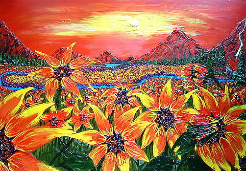 World Of The Sunflower 1 by Portland Art Creations