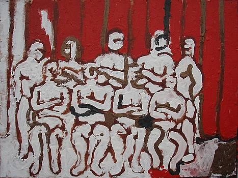 Wrestlers by Harry Spitz