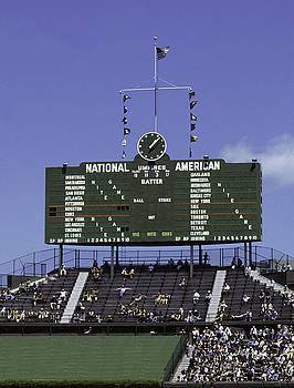 Wrigley Field Classic Scoreboard 1977 by Paul Plaine