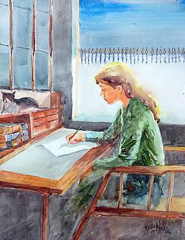 Writting A Letter... by Faruk Koksal