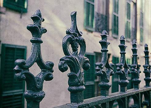 Wrought Iron Fence by Kim Hojnacki