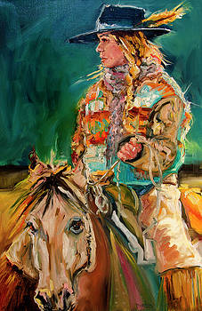 Wyoming Cowgirl by Diane Whitehead