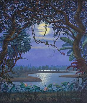Yamuna at night by Vrindavan Das