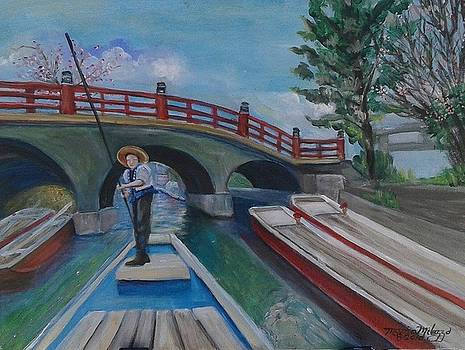 Yanagawa Punting River Boat Japan by Maria Milazzo