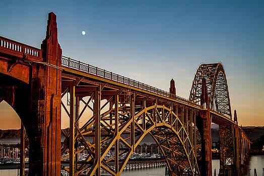 Yaquina Bay Bridge, Newport, Or by David Rigg