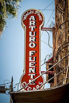 Ybor City Arturo Fuente Cigar Sign by Toni Thomas