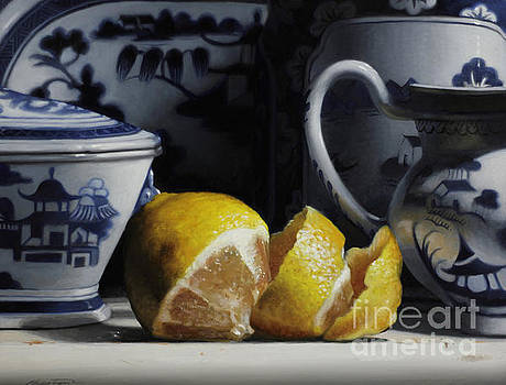 Yellow And Blue  by Larry Preston
