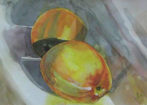 Yellow Apple by Akhilkrishna Jayanth