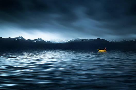 Yellow Boat by Bess Hamiti
