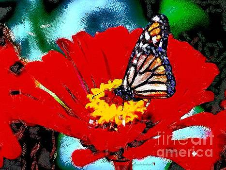 Yellow Centered Butterfly In The Mix by Catherine Lott