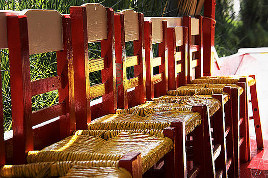 Yellow Chairs in Xochimilco by David Resnikoff