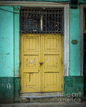 Yellow Doors Cuba by Perry Webster