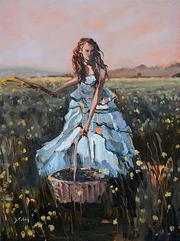 Yellow Fields by Donna Tuten