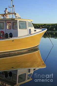 Edward Fielding - Yellow Fishing Boat Early Morning