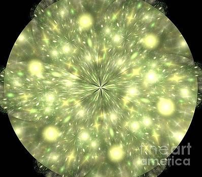 Yellow Galaxies Mandala by Kim Sy Ok