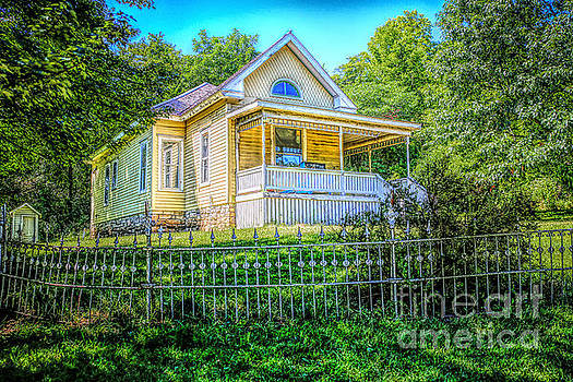 Yellow House on the Hill by Lynn Sprowl