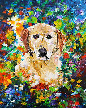 yellow Lab by Kevin Brown