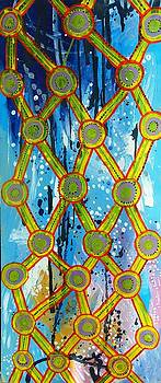 Yellow net by Laura Vizbule