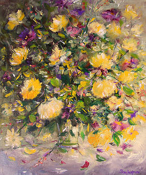 Yellow roses by Mario Zampedroni