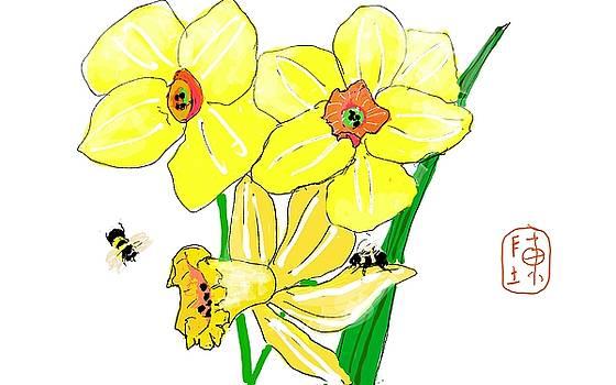 yellow says Spring by Debbi Saccomanno Chan