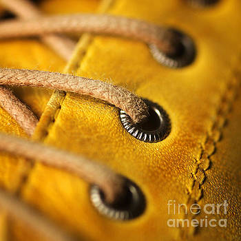 Yellow shoe by Isabel Poulin