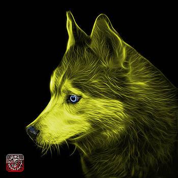 Yellow Siberian Husky Art - 6048 - BB by James Ahn