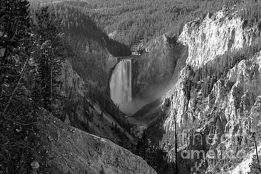 Adam Jewell - Yellowstone Canyon Falls - Back And White