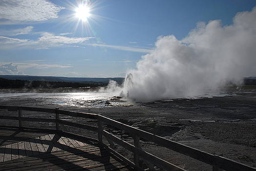 Yellowstone steam  5 by Rich Caperton
