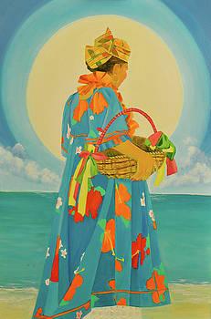 Yemoja's Sunset Offerings II by Katia Creole Art